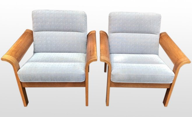 Pair of armchairs by Rud Thygesen & Johnny Sørensen, 1970s