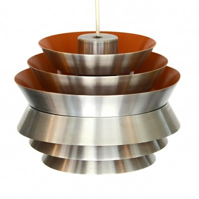 Pendant light 'Trava' in brushed aluminium by Carl Thore for Granhaga