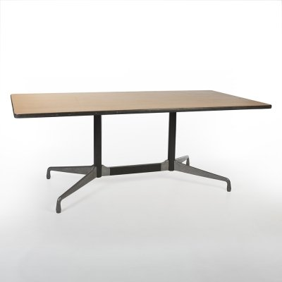 Beech Herman Miller Original Vintage Eames ET143 Segmented Rectangular Table