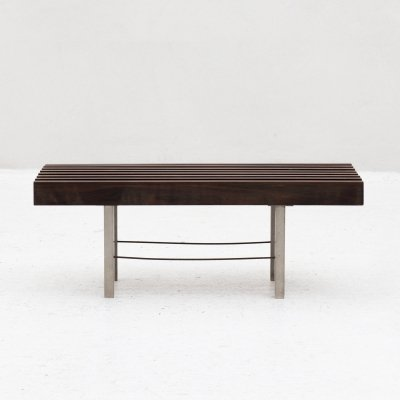 Rosewood slatted bench, Dutch 1960's