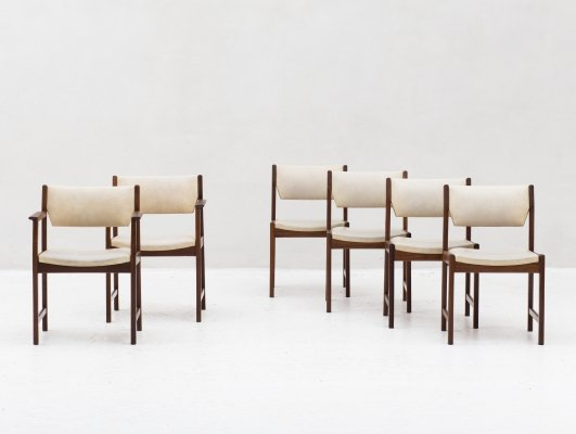 Set of 6 dining chairs, Dutch 1960's