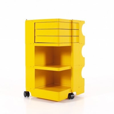 Yellow ABS plastic 'Boby' trolley by Joe Colombo & Bieffeplast, Italy 1960's