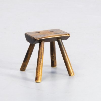 30s Oak wooden stool