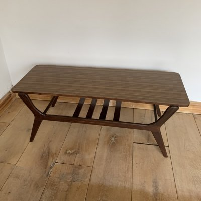 Teak Mid Century Modern Coffee Table, 1960s