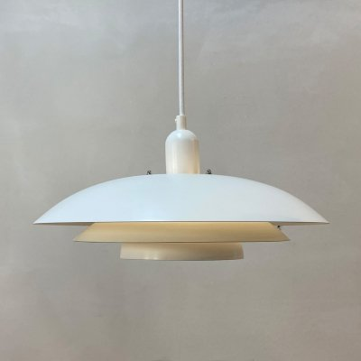 White Danish hanging lamp, 1970s