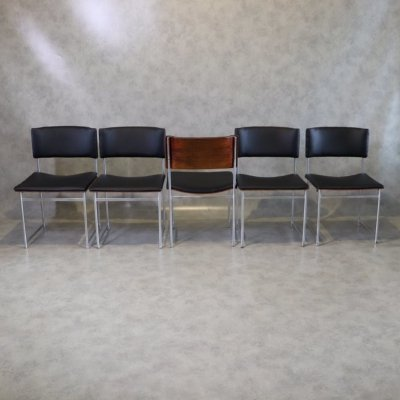 Set of 5 'SM08' Dining Chairs by Cees Braakman for Pastoe, 1950s