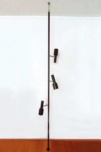 Dark brown clamp lamp by Hala Zeist, 1960s