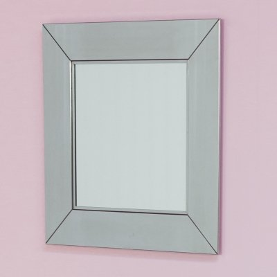 Chrome mirror signed by Cidue, Italy Circa 1970