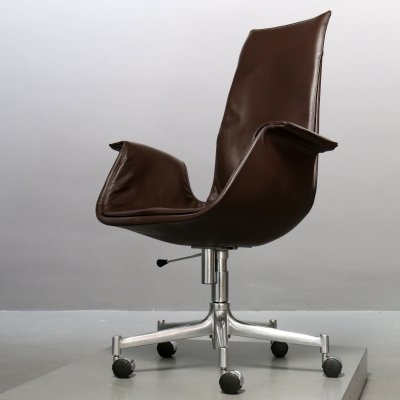 Bucket Seat FK 6725 office chair by Jørgen Kastholm & Preben Fabricius for Walter Knoll, 1980s