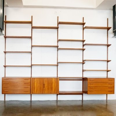 Danish Teak Wall Unit by Kai Kristiansen, 1960s