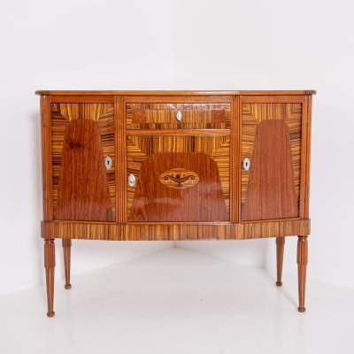 French Art Deco Sideboard in Various Woods, 1930s