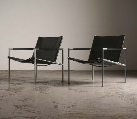 Pair of SZ02 arm chairs by Martin Visser for 't Spectrum, 1960