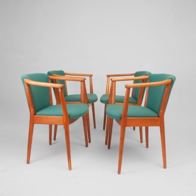 Set of 4 Armchairs Model 83a by Nanna Ditzel for Søren Willadsen