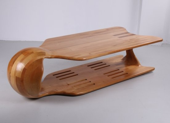 Coffee table in beech, 1990s