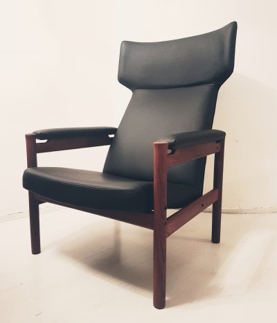 Søren Hansen model 4365 wing chair for Fritz Hansen, Denmark 1960s