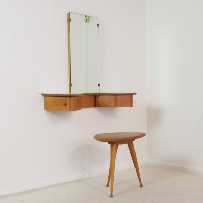 Wall mount make-up vanity set by Cees Braakman for Pastoe