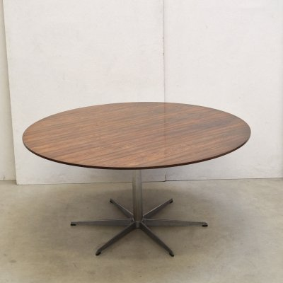 Rare Rosewood Dining Table by Arne Jacobsen for Fritz Hansen, 1971