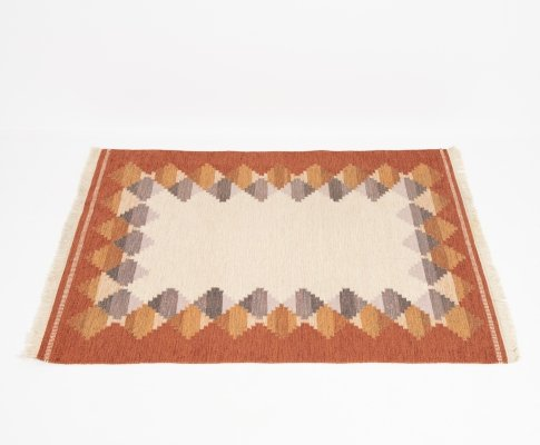 Swedish rug in wool, 1960s