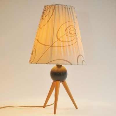 50s tripod table lamp