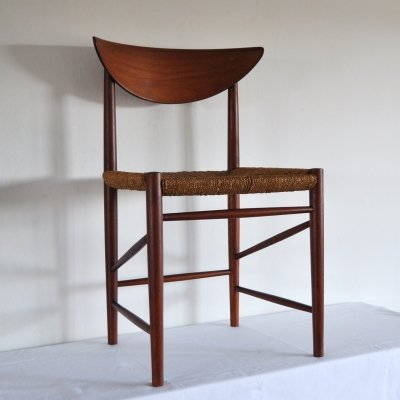 Dining chair in solid teak by Peter Hvidt & Orla Mølgaard-Nielsen