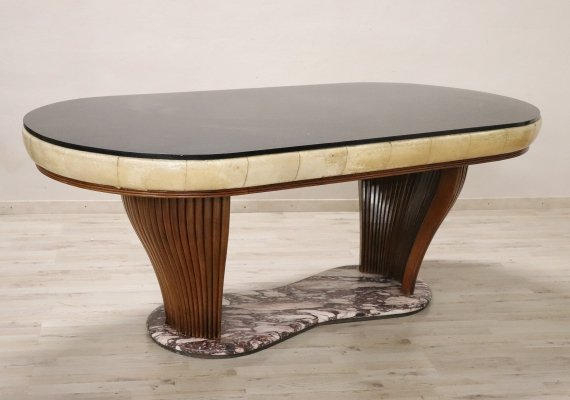20th Century Italian Design Rare Oval Dining Table by Vittorio Dassi, 1950s