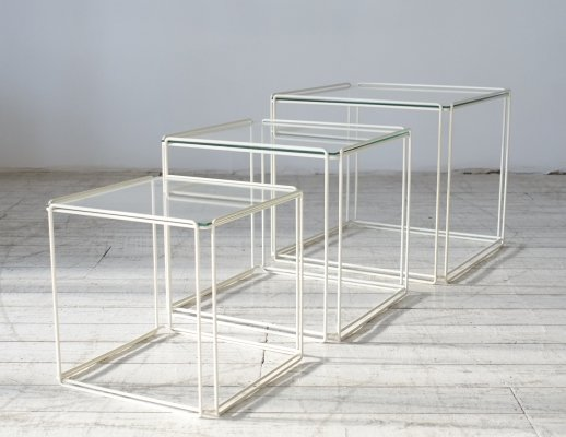'Isocele' Nesting tables by the French artist Max Sauze, circa 1970