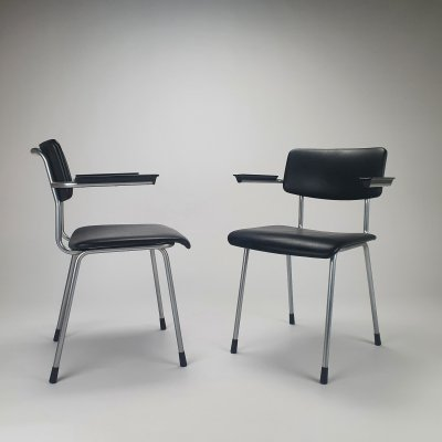 Set of 2 1235 Gispen chairs by Andre Cordemeyer, 1960s