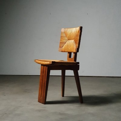 Architectural tripod chair, France 1950s