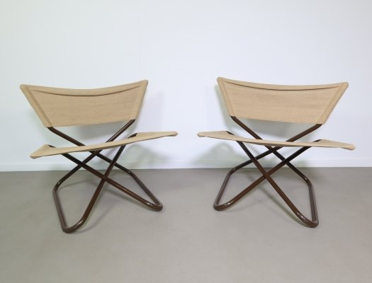 Pair of two foldable Z-down chairs by Erik Magnussen, 1960s