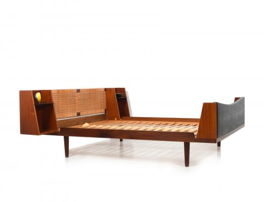 Danish Teak Queensize Bed by Hans J. Wegner for Getama, 1950s