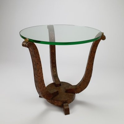 Mid Century Brutalist Hammered Copper Side Table, 1960