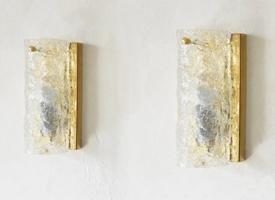 Pair of wall sconces by Hillebrand, 1960s