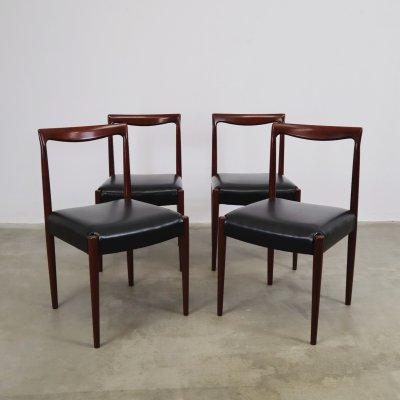 Set of 4 Rosewood Lubke dining chairs, 1960s