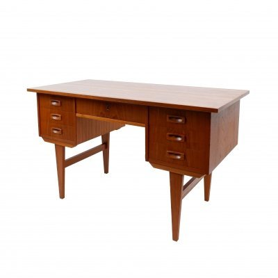 Vintage writing desk with 7 drawers