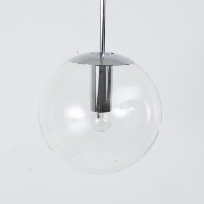 Glass globe pendant by Bumet, 1960s