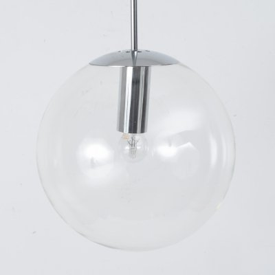 Large glass globe pendant by Bumet, 1960s