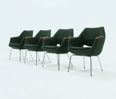 Set of 4 Arm Chairs by Olli Mannermaa for Martela, 1960s