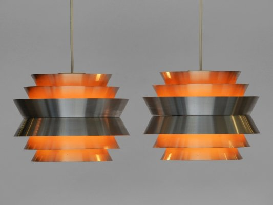 Pair of pendant lights 'Trava' by Carl Thore