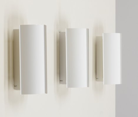 White metal sconce by Fagerhults Sweden, 1980s