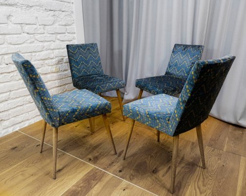 Set of 4 'Stick' chairs type 200-244 by Słupska Fabryka Mebli, 1960s