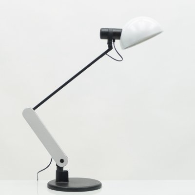 White Italian Harvey Guzzini table desk lamp, 1970s