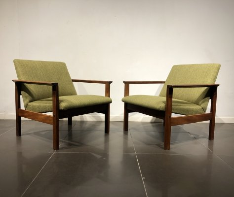 Pair of 'FU05' Easy Chairs by Yngve Ekström for Pastoe, 1960s