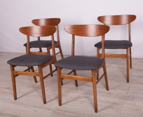 Set of 4 Mid-Century Dining Chairs from Farstrup Møbler, 1960s