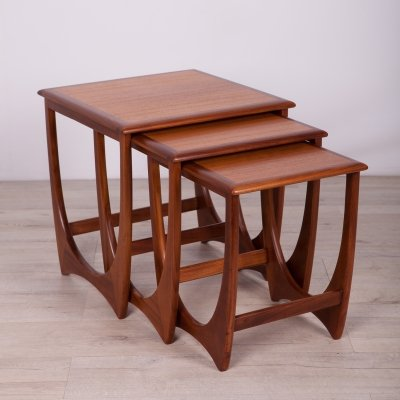 Teak Nesting Tables by V. Wilkins for G-Plan, 1970s
