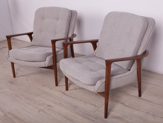 Pair of 'Tulip' Armchairs by Inge Andersson for Bröderna Andersson, 1960s