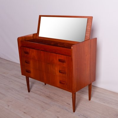 Mid century Teak Dressing Table With Drawers