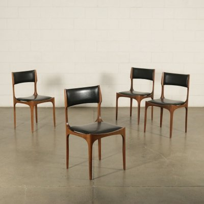 Set of 4 'Elisabetta' Dining Chairs by Giuseppe Gibelli for Sormani, 1960s