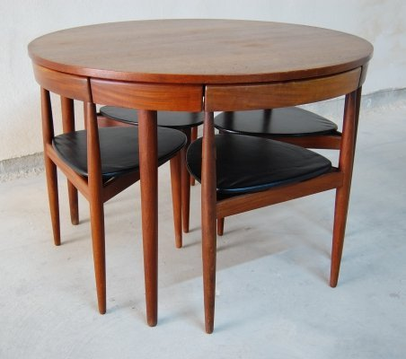 Roundette dining set by Hans Olsen for Frem Røjle, 1960s