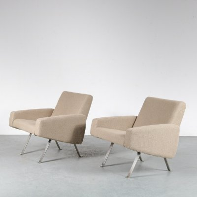 Pair of Vintage Lounge Chairs by Joseph André Motte for Artifort, 1965