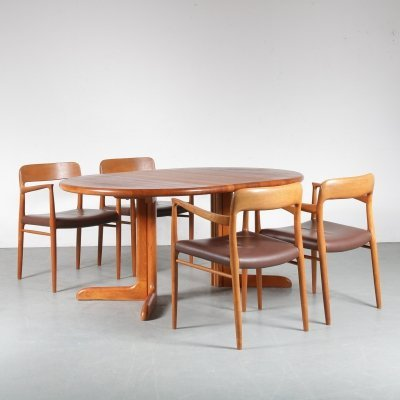 Teak Dining Set by Niels Otto Møller for Moller, Denmark 1960